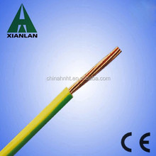 single core wire 1.5mm electrical cable green/yellow