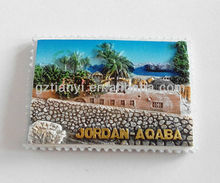 2015 Guangzhou wholesale religious poly resin fridge magnet