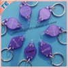 Plastic led flashing torch light key chain for promotional gift