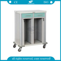 AG-CHT011 color steel medical record holders with 40 shelves