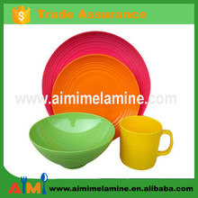 2015 New design 20pcs melamine tableware