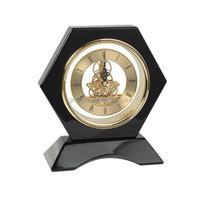 Six prismatic wooden clock