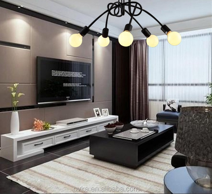 lustre salon moderne interesting top lustre salon moderne pas cher luminaire plafonnier design. Black Bedroom Furniture Sets. Home Design Ideas