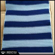 Wholesale Handmade Waffle Crochet Baby Blanket