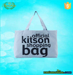 high quality cotton recyclable shopping bag with logo print