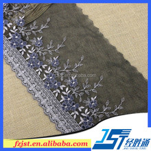 2015 Garment accessories embroidered lace trim for lace shoe
