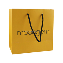Eco frindly recycle high quality yellow handle shopping bag