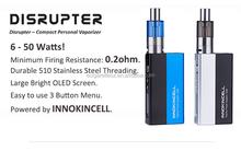 Vaporizer vv vw 2015 Vaporizer Innokin e-cigarette Disrupter 50W box mod and InnokinCell battery2015 Vaporizer Innokin e-cigaret