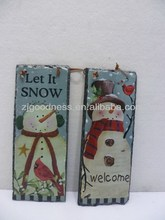 HOT SALE 9-7/8''H WELCOME LET IT SNOW SLATE WALL PLAQUE