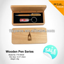 Classic gifts wooden pen set with keychain