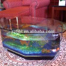2015 fábrica venta al por mayor de encargo de acrílico pecera piscicultura tank acuario