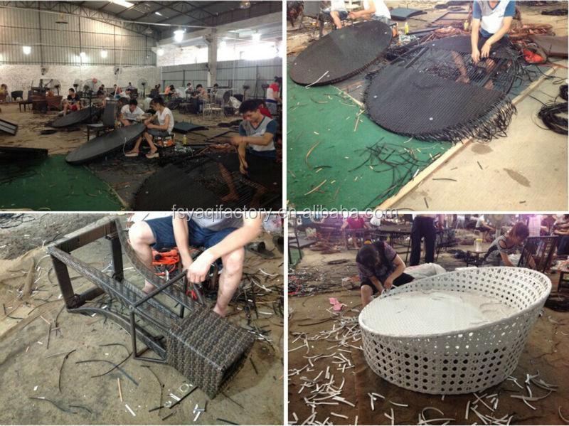 New design high back rattan outdoor furniture (YA-3014)