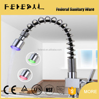 LB-A15 artistic China factory LED ceramic cartridge square kitchen faucet pull out