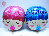 Shape baby boy and baby girl foil balloon
