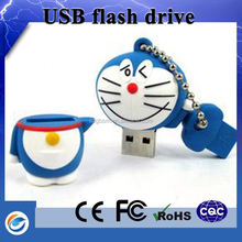 Stores sell wigs wholesale cute cartoon usb flash drive with gift basket