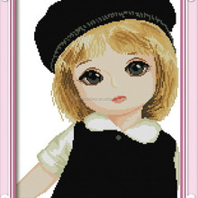 Little cute girl cross stitch wholesale over 10years factory