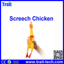 Yellow Funny Screech/Screaming/Shrilling Chicken Toy For Prank Joke