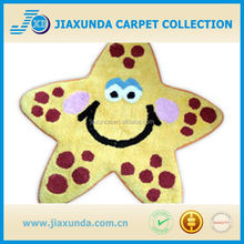Yellow sea star design pretty elegant cheap rug for kids from China