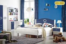 Simple blue color bedroom furniture for kids