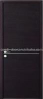 new design black walnut simple flush PVC interior door