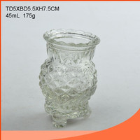Pineapple shaped glass candle holder wholesale