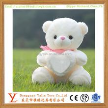 2015 Fresh design Most Popular& Lovely Pure Plush Toys Teddy Bear Witn Heart Meet EN71&ASTM For Girls