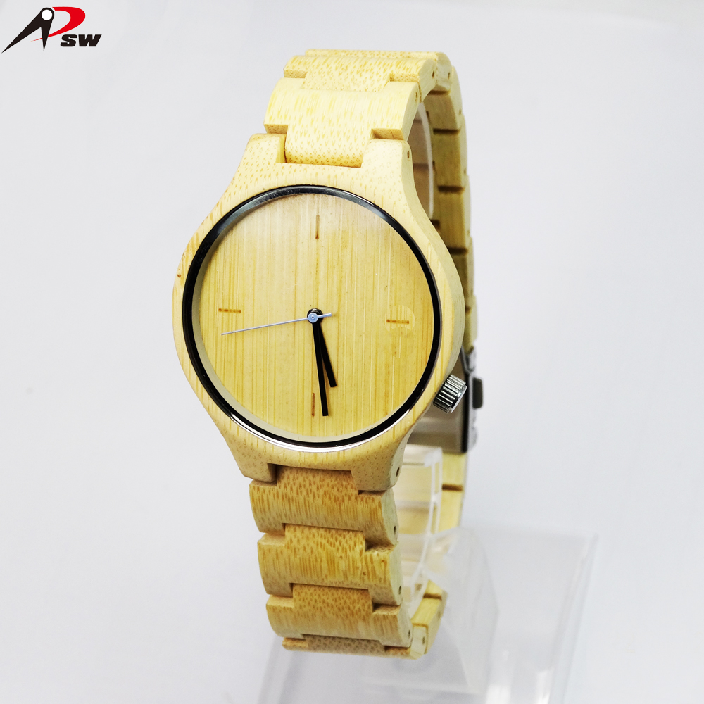 New design bamboo wood watch color optional Miyota 2035 movementt watches