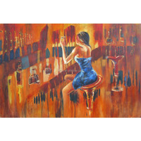 home decor canvas painting african art dancing painting