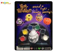 new funny DIY painting Halloween witch pendant face paint with light and sound/safe festival face paint/ party face paint