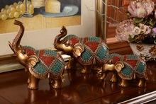 bedroom decoration kid toys resin three elephants puppet