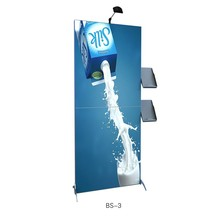 Aluminum-alloy advertising stand backdrop with literture rack