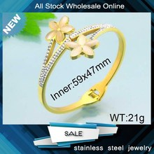 new style gold plated indian american diamond bangle designs