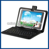 "Faux Leather Plaid Protective Case Keyboard Case with Micro USB 2.0 for 7"" Tablet PC (Black)"
