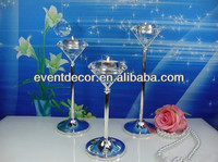Cheap diamond candle holder with pillar for wholesale