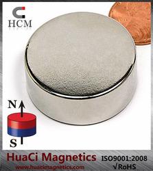 """N42 Disc Neodymium Magnet Dia 1 1/4X1/2"""" NdFeB Rare Earth Magnet"""