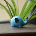 Zakka vento beijando bebê elefante animal resina ornamentos ornamentos mini-hot d0401