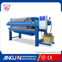 Hydraulic power press machine for sewage treatment