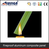 Alusign interior fire resistant aluminum composite panel