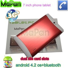 Mapan dual core dual sim android phone/ bluetooth wifi gps 3g calling tablet pc