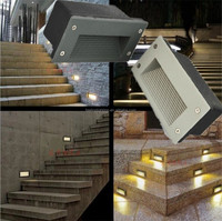 Factory sale outdoor 3W Stair Corner Step led wall light/lamp cool white color 110v