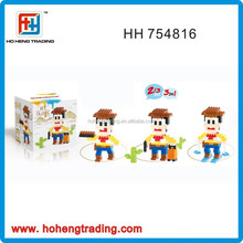 2015 Wonderful Intelligence Building Blocks Toys ,3 in 1 Woody Plastic Building Blocks