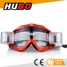 HUBO customer design motocross goggles roll off motorcycle glasses