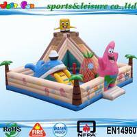 hot sale giant inflatable slide bouncer, commercial inflatable bouncer with slide combo