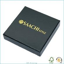 sturdy and nice paper packaging box with gold stamping for shirt in apparel industry