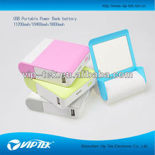 shenzhen viptek dual usb portable mobile phone chargers and mirror power bank charger