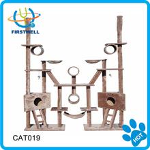 Combined big cat climber / cat house / cat tree