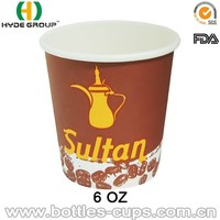6 oz Sultan Cup, Paper Cup with Brand Name, Paper Cup for Saudia