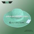 2014 china alibaba estilo manera tejido a mano de las señoras de moda de papel de paja de ala grande la tapa y el sombrero