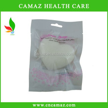 Wholesale latest design Pure Natural Bamboo charcoal Konjac cleaning Sponge for face