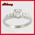 vintage 10k wedding anel de ouro com menor preço anel de ouro branco